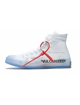 All Star Luxury White Most Hottest Chuck Canvas Sneaker Translucent Upper Vulcanized Sole by Off Collaboration