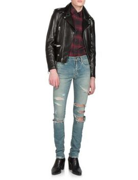 Classic Leather Jacket by Saint Laurent