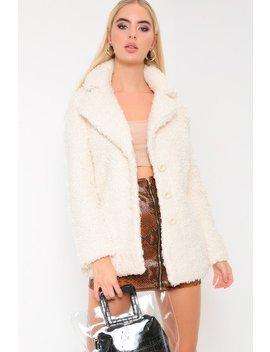 Cream Teddy Borg Coat by I Saw It First