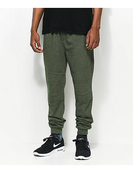 Ninth Hall Brute Olive Moto Knit Jogger Pants by Ninth Hall