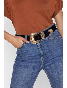 Think Big Velvet Belt by Nasty Gal