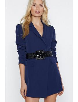 Take A Shine Croc Belt by Nasty Gal