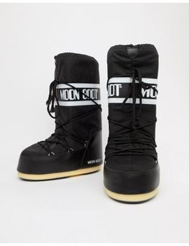 Moon Boot Classic Snow Boots In Black by Moon Boot