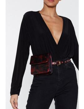 Want Danger Zone Metallic Fanny Pack by Nasty Gal
