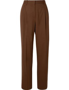 Wool Straight Leg Pants by Casasola