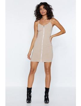 Zip Right Through Bodycon Dress by Nasty Gal