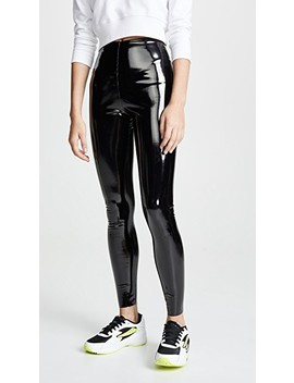 Faux Patent Leather Perfect Control Leggings by Commando