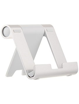 Amazon Basics Multi Angle Portable Stand For Tablets, E Readers And Phones   Silver by Amazon Basics