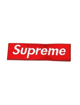 Supreme Logo Iron Sew Patch (Red Colour) by Patch By Klb