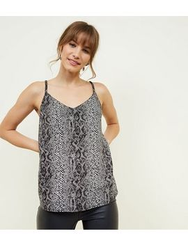 Silver Snake Print Cami by New Look