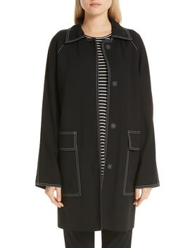 Maryann Topstitch Car Coat by Lafayette 148 New York