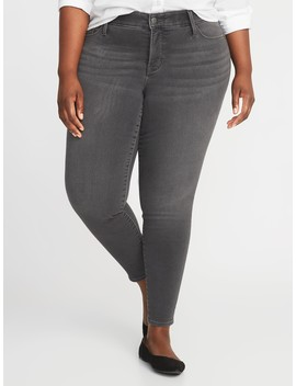 High Rise Secret Slim Pockets + Waistband Plus Size Built In Warm Rockstar Jeans by Old Navy