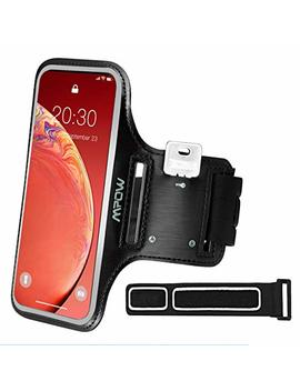 Mpow I Phone Running Armband For I Phone 8 Plus 7 Plus 6 Plus 【Most Phones Up To 5.5 Inch 】,Running Phone Armband With Reflective Strap, Running Headphone Slot And Key Slot For Running, Workout Exercise, Sweatproof, With Extension Strap by Mpow