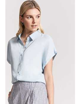 Chambray Button Down Shirt by Forever 21