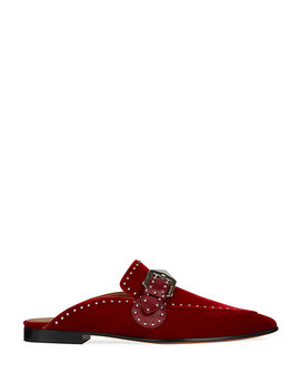 Elegant Studded Velvet Loafer Mule by Givenchy