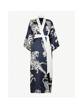 Queenie Silk Robe by Olivia Von Halle