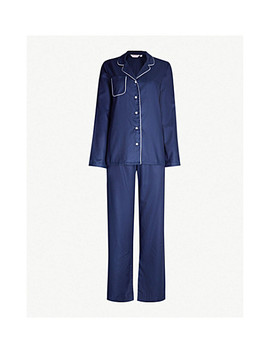 Lombard Cotton Jacquard Pyjama Set by Derek Rose