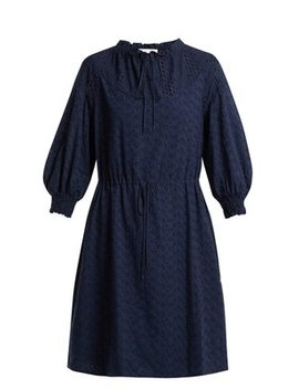 Broderie Anglaise Cotton Dress by See By Chloé