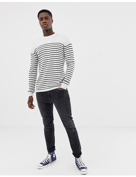 French Connection Breton Stripe Crew Neck Sweater by French Connection