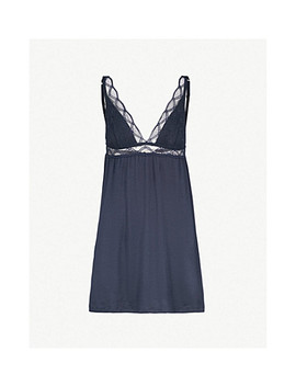 Georgina Jersey And Lace Chemise by Eberjey