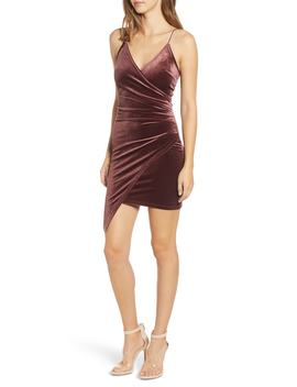 Lexi Velvet Faux Wrap Dress by Tiger Mist