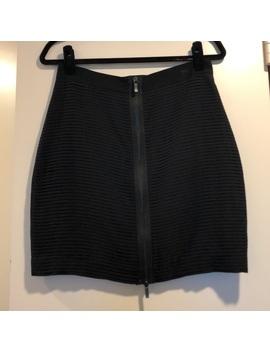 Tibi Black Zip Front Mini Skirt. Size 6 by Tibi