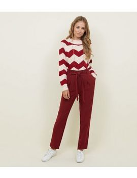 Tall Burgundy Tapered Trousers by New Look