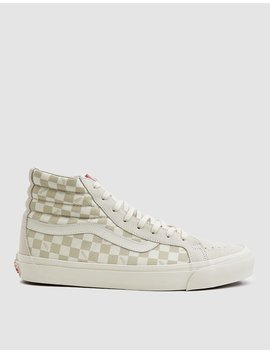 Og Sk8 Hi Lx Sneaker In Checkerboard/Marshmallow by Vault By Vans