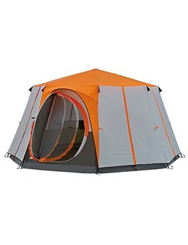 Coleman Tent Cortes Octagon, 6 To 8 Man Festival Tent, Large Dome Tent With Full Standing Head Height, 100 Percents Waterproof Family Camping Tent With Sewn In Groundsheet by Coleman