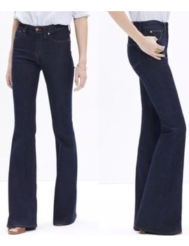 Nwt Madewell Sz 29 Flea Market Flare Jeans Dk Blue Women's by Madewell