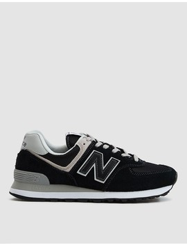 574 Sneaker In Black/White by New Balance