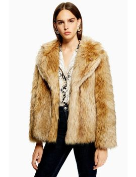 Tall Vintage Faux Fur Coat by Topshop