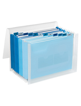 Blue 13 Pocket Accordion Letter File by Container Store