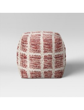 Burbank Windowpane Pouf   Project 62™ by Project 62