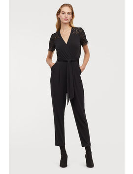 Jumpsuit With Lace Yoke by H&M
