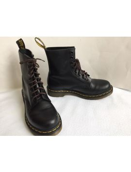 Dr. Doc Martens Sz 9 Womens Air Wair Black Combat Boots Euc by Dr. Martens