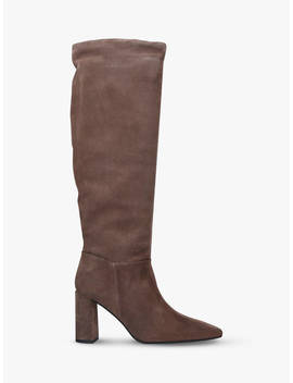 Carvela Wisp Suede Knee High Boots, Taupe by Carvela