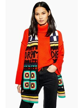 Crochet Scarf by Topshop