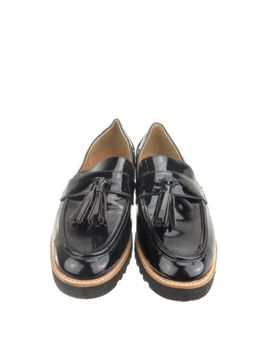 Women's Franco Sarto Carolynn Shoes Black Synthetic Flat Loafers Size 9 M by Franco Sarto