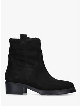 Kurt Geiger London Rae Ankle Boots, Black Leather by Kurt Geiger London
