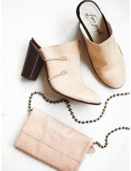 Free People Womens Stateside Mules Heels Bone Cordovan Size 9 New by Free People