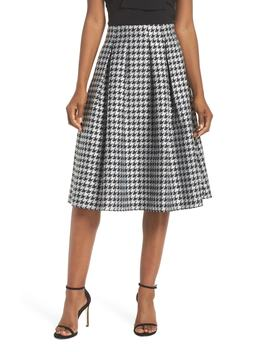 Houndstooth Pleated Skirt by Eliza J
