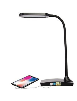Tw Lighting Ivy 40 Bk The Ivy Led Desk Lamp With Usb Port, 3 Way Touch Switch, Black by Tw Lighting