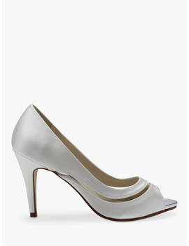 Rainbow Club Elosia Open Toe Court Shoes, Ivory by Rainbow Club