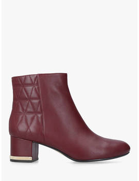 Michael Michael Kors Marcie Block Heel Ankle Boots, Dark Red Leather by Michael Kors
