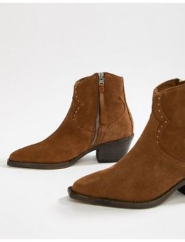 All Saints Melanie Suede Western Boot by All Saints