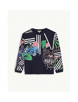 Jungle Print Cotton Jumper 4 16 Years by Kenzo