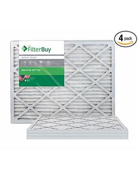 Filter Buy 18x24x1 Merv 8 Pleated Ac Furnace Air Filter, (Pack Of 4 Filters), 18x24x1 – Silver by Filter Buy