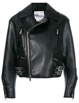 Cropped Laced Hem Biker Jacket by Comme Des Garçons Noir Kei Ninomiya