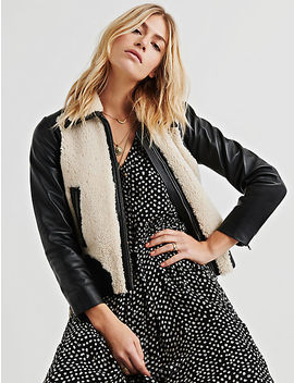 Sherpa Leather Jacket by Lucky Brand